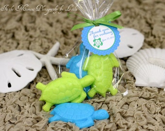 20 TURTLE SOAPS {10 Favors} - Turtle Themed Birthday Party, Luau Favor, Baby Soap Favor, Bridal Shower Favor, Beach Soap Nautical