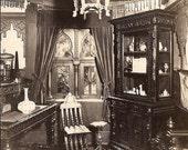 Vintage/ Antique Souvenir  photo Postcard of the prayer room in villa zoraydo