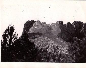 Vintage/ Antique Photo of Mount Rushmore