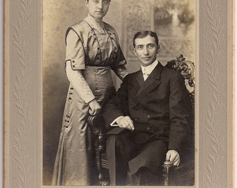 Vintage/ Antique Cabinet photo of a beautiful couple