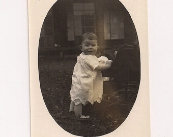1926 Vintage/ Antique photo of a cute girl wearing a dress with satin shoes