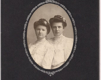 Vintage/Antique cabinet photo of two beautiful women
