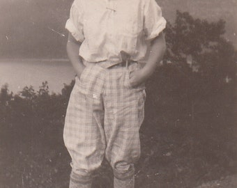 Vintage/ Antique Photo of a teenager in a funky outfit