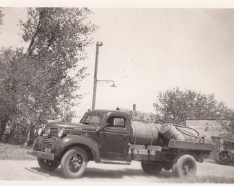 Vintage/Antique photo of a Dodge gasoline truck