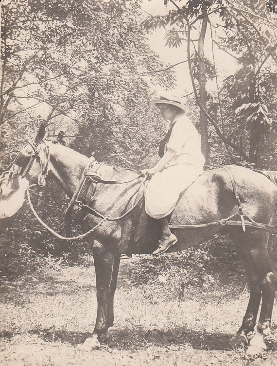 Vintage/ Antique Photo of a woman on a horse