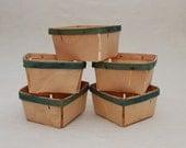 SALE - Vintage Berry Baskets - Set of 5