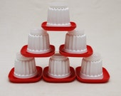 Tupperware Individual Jello Molds - w/ small serving plates