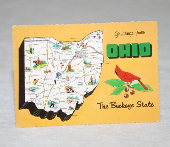 Vintage Ohio Postcard - unused