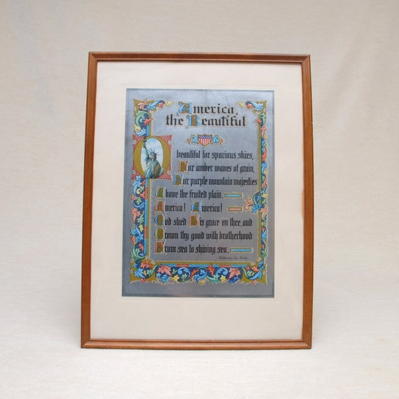 America The Beautilful- Framed Foil Print