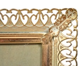 Vintage HOLLYWOOD REGENCY Gold Filigree 8 x 10 Picture Frame