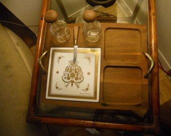 Vintage Georges Briard Cheese and Hor Dourves Serving Tray
