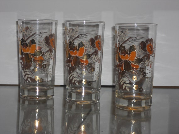 Vintage Signed Culver Tumbler Set of 3