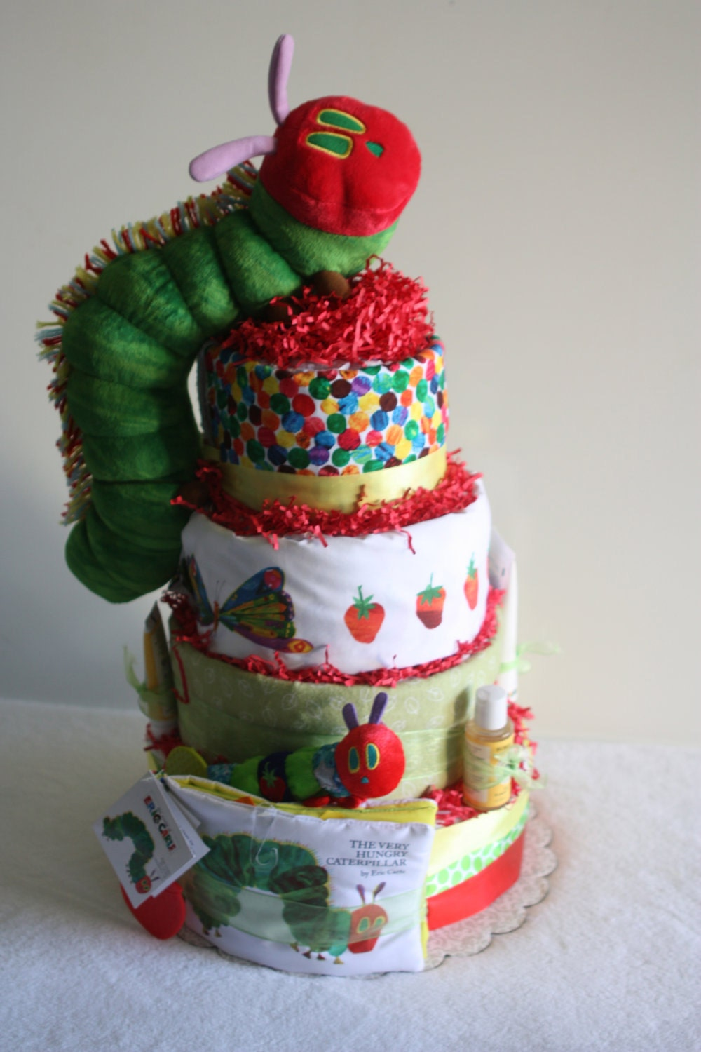 Very Hungry Caterpillar Diaper Cake By Odellsisters On Etsy