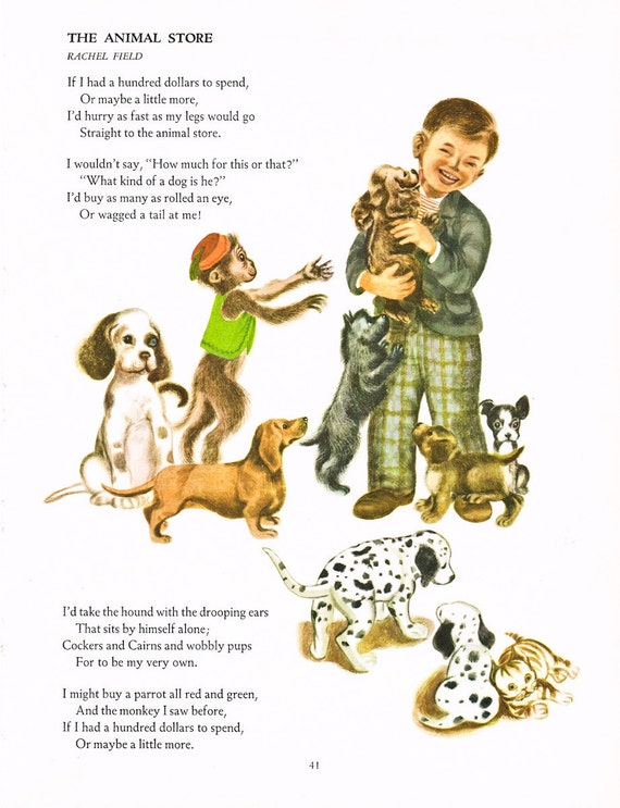 1963 : Big Golden Book of Poetry - 85 Children's Favorites .. The Animal Store