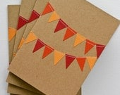 Fall Stationery Set with Autumn Bunting Flag