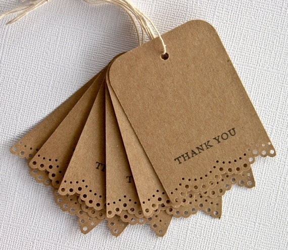 Wedding Thank You Gift Tags: Wedding Favor Thank You Gift Tags Set Of 10 By RainyDayColors