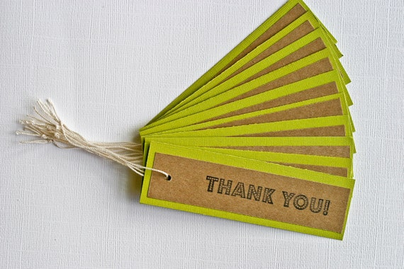 Thank You Gift Tags Set of 10