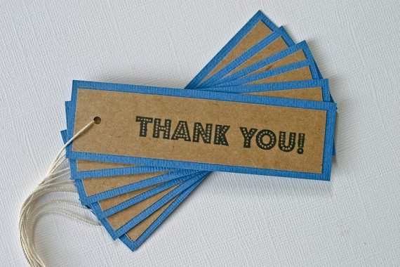 Blue Thank You Gift Tags