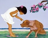 """PIT BULL COUNTRY Giclee on Canvas 8"""" x 10"""""""