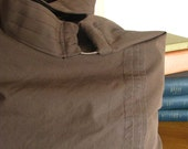 Large Upcycled Shoulder Bag in Chocolate Brown