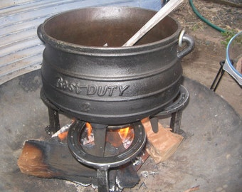 Tripod Campfire Stand Cook In Pot Hanging By
