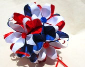 Sale Item -American Patriotic Red White and Blue Kusudama Flower Hanging Ball - Decoration