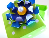 Lollipop Green Flower Bloom Origami Decorative Box - Gift Box, Jewelry Box, Ring Box