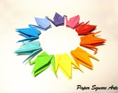 Lucky Peace Cranes set of 10 in rainbow selection