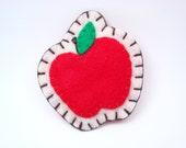 Red Apple Felt Brooch Fruit Felt Pin Felt Accessories Sale