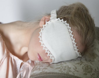 White Linen Sleep Eyemask