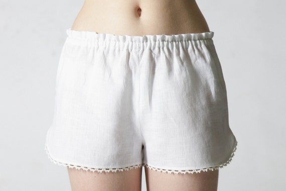 Pure Linen Sleep Shorts for Woman