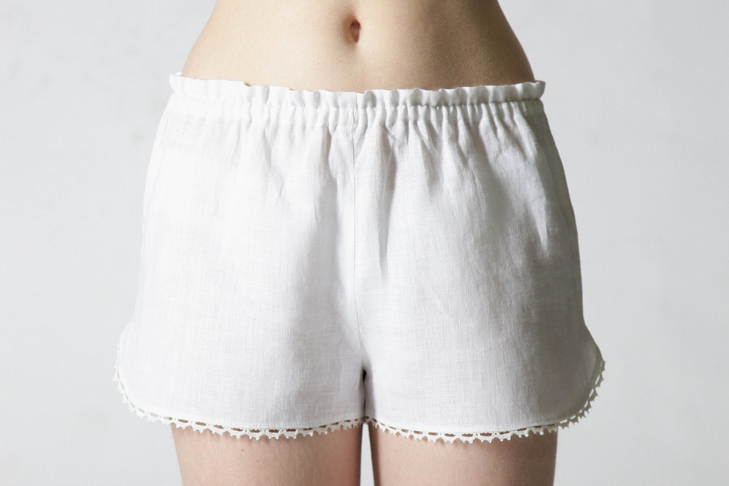 Linen Shorts For Ladies - The Else