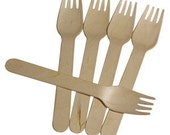 24 Disposable Wooden Forks For Birthday Cake Dessert Bar Favor Party Cups