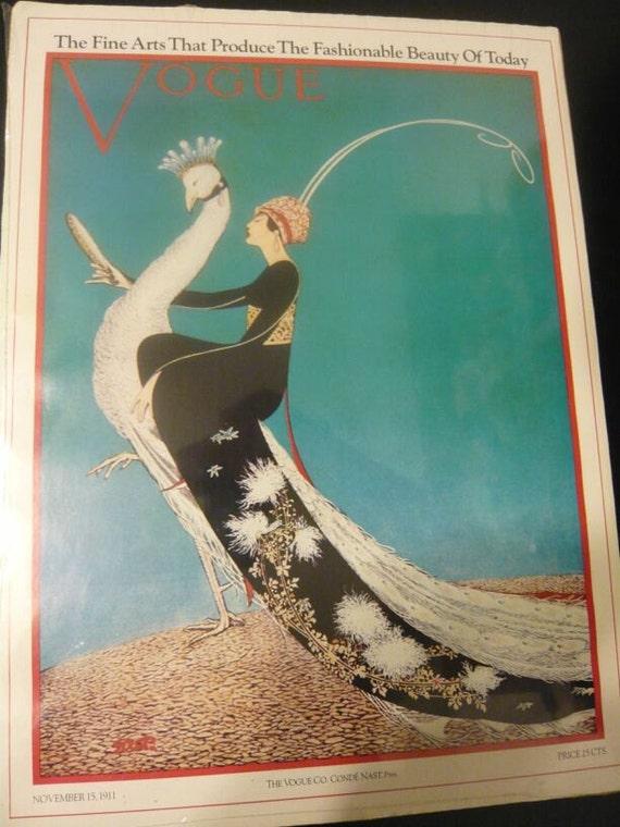 SALE - Vintage 1911 Vogue Poster Copy