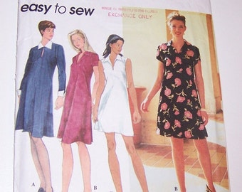Simplicity 1996 Uncut Easy To Sew Misses/Miss Petite Dress Sizes 6 8 10 Pattern Number 7262