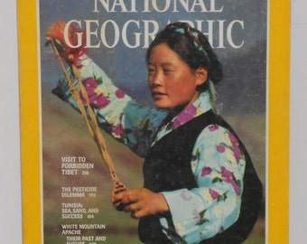 Vintage National Geographic February 1980 - Vintage Ads - Visit to Forbidden Tibet - Tunisia - Vintage Magazine
