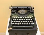 "Beautiful Antique 1931 ""Green"" Underwood Portable Typewriter"