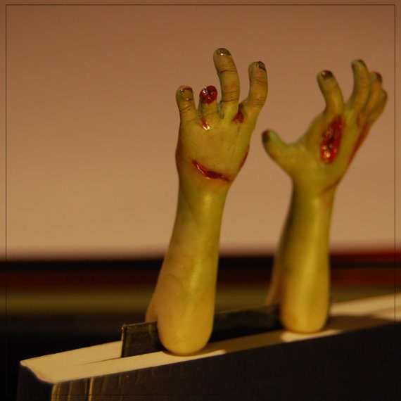 Zombie Hands Art Bookmark - Custom/Made to Order