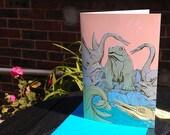 Crystal Palace Dinosaurs Greetings Card