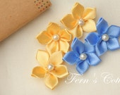 Satin Ribbon Flower - 10 PCS - FREE SHIPPING