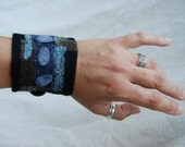 Nuno Felted Cuff with Stones