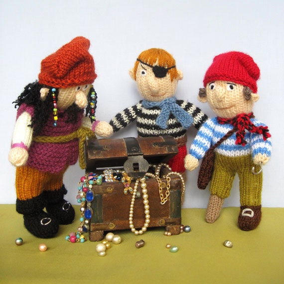 Pirates knitted toy doll INSTANT DOWNLOAD PDF email by toyshelf
