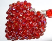 RED Heart Beaded Ornament