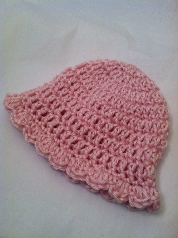Newborn Baby Girl Cozy Crochet Baby Hat in Dusty Rose, Pink, Newborn Girl Hat, Little Girl Hat, Photography Prop