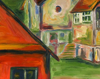 Orange House, Romania - Print