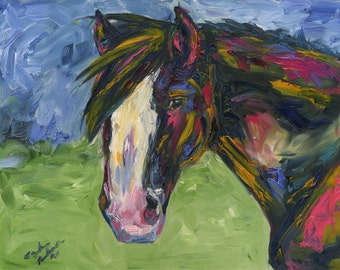 Draft Horse - Original Oil Painting 11x14
