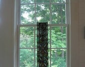 Classic stained, hand-etched and painted leaded glass panel from old church near Watertown, NY.