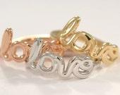 14K Gold Love Rings