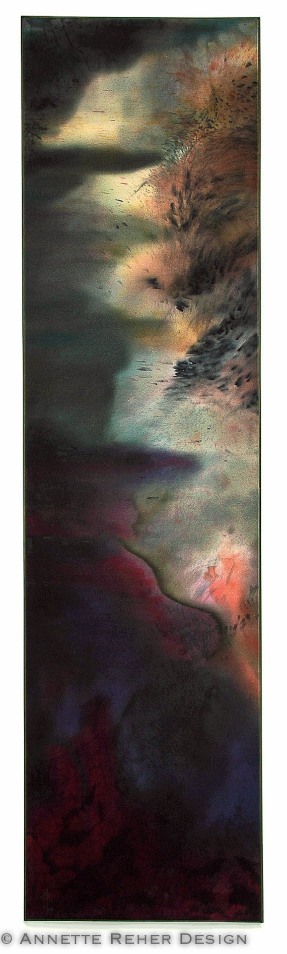 RAKU - silk painting impressions
