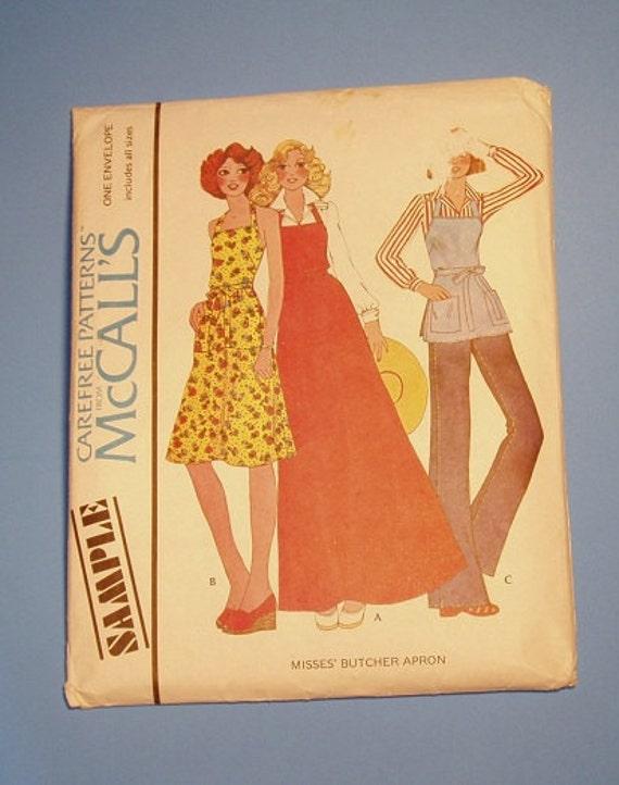 Vintage Pattern McCalls 1975 Misses Butcher Apron in U.S.